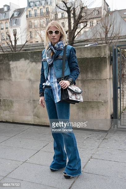 Model and fashion design student Laura Tonder wears Zalando jacket and scarf Seafarer jeans Dr Denim shirt Carolina Herrera sunglasses and Karl...