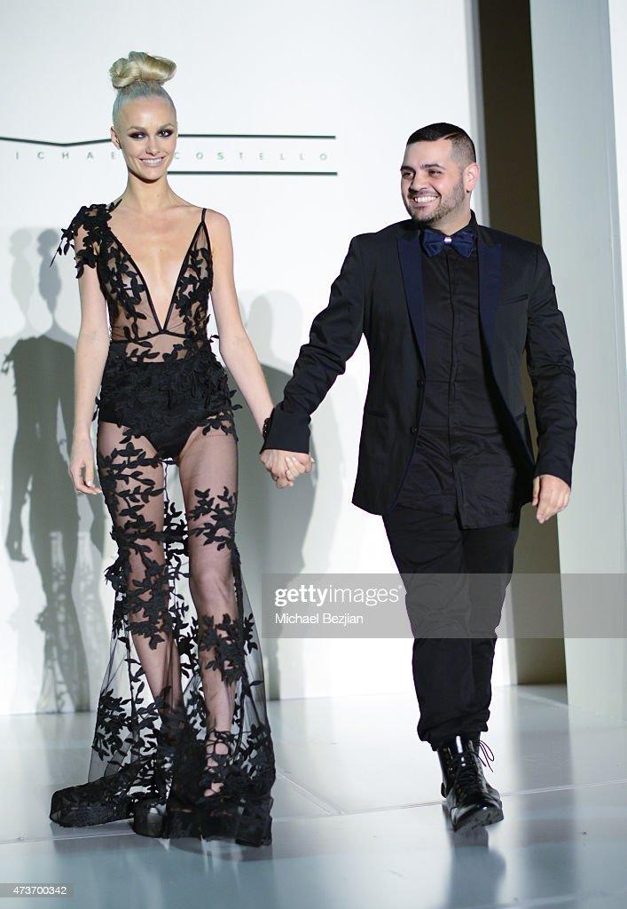 Model And Fashion Designer Michael Costello On The Runway At Karma  Internationalu0027s Black U0026 White Bentley