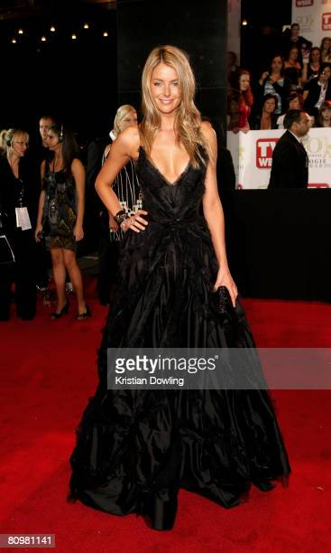 Model and former Miss Universe Jennifer Hawkins arrives on the red carpet at the 50th Annual TV Week Logie Awards at the Crown Towers Hotel and...