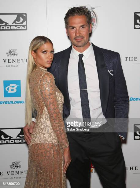 Model and former professional wrestler Barbie Blank and her husband former NHL player Sheldon Souray attend the ninth annual Fighters Only World...