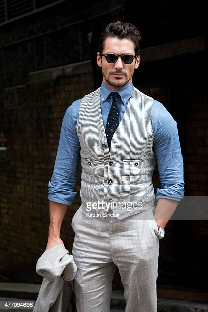 Model and GQ correspondent David Gandy wears all Marks and Spencer on day 2 of London Collections Men on June 13 2015 in London England