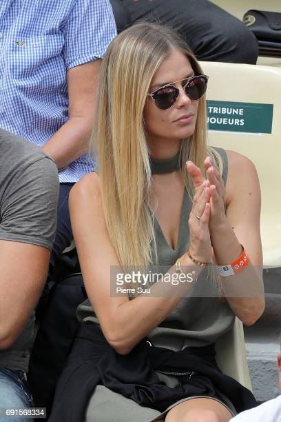Model and Milos Raonic girlfriend Danielle Knudson is spotted at Roland Garros on June 2 2017 in Paris France