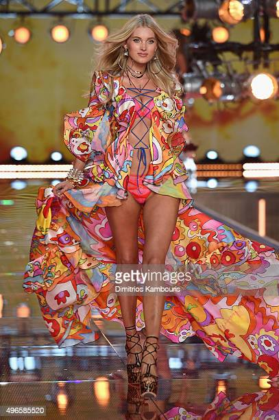 Model and new Victoria's Secret Angel Elsa Hosk from Sweden walks the runway during the 2015 Victoria's Secret Fashion Show at Lexington Avenue...