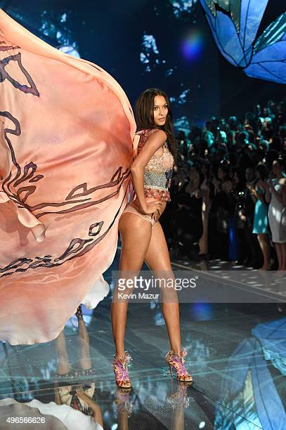 Model and New Victoria's Secret Angel Lais Ribeiro from Brazil walks the runway during the 2015 Victoria's Secret Fashion Show at Lexington Armory on...