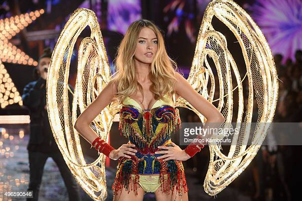 Model and New Victoria's Secret Angel Martha Hunt walks the runway during the 2015 Victoria's Secret Fashion Show at Lexington Avenue Armory on...
