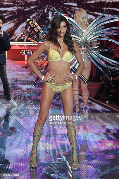 Model and New Victoria's Secret Angel Sara Sampaio from Portugal walks the runway during the 2015 Victoria's Secret Fashion Show at Lexington Avenue...