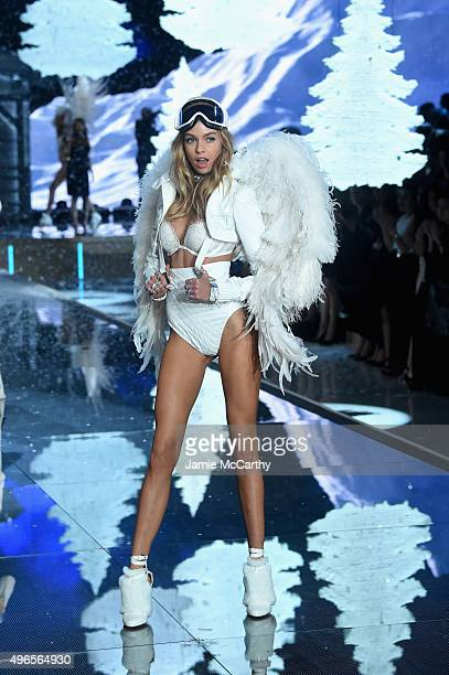 Model and New Victoria's Secret Angel Stella Maxwell from The United Kingdom walks the runway during the 2015 Victoria's Secret Fashion Show at...