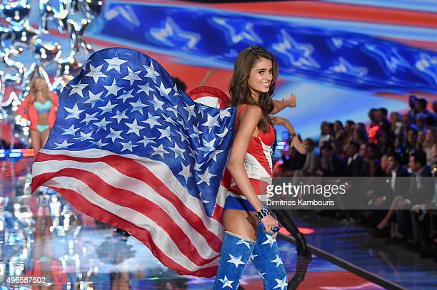Model and New Victoria's Secret Angel Taylor Hill from Illinois walks the runway during the 2015 Victoria's Secret Fashion Show at Lexington Avenue...