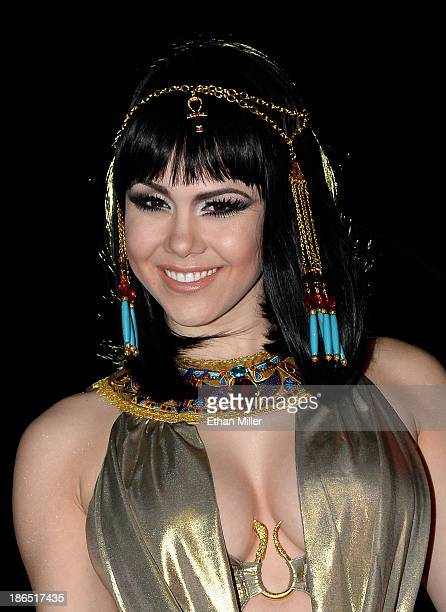 Model and parade queen Claire Sinclair attends the fourth annual Las Vegas Halloween Parade on October 31 2013 in Las Vegas Nevada