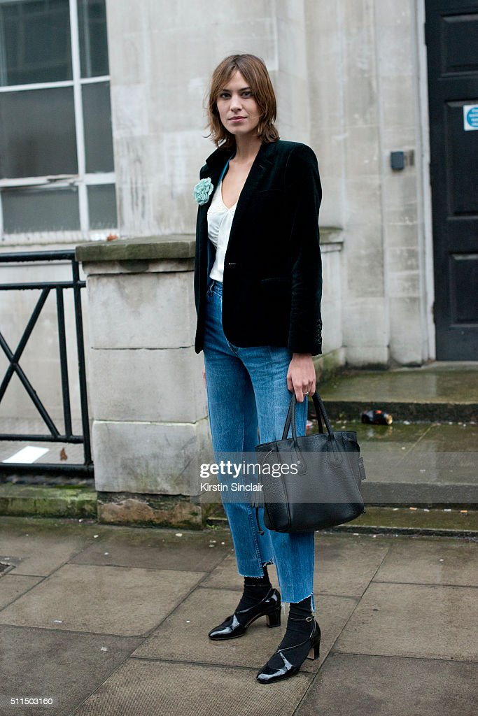 Model and presenter Alexa Chung on day 2 during London Fashion Week Autumn/Winter 2016/17 on February 20 2016 in London England