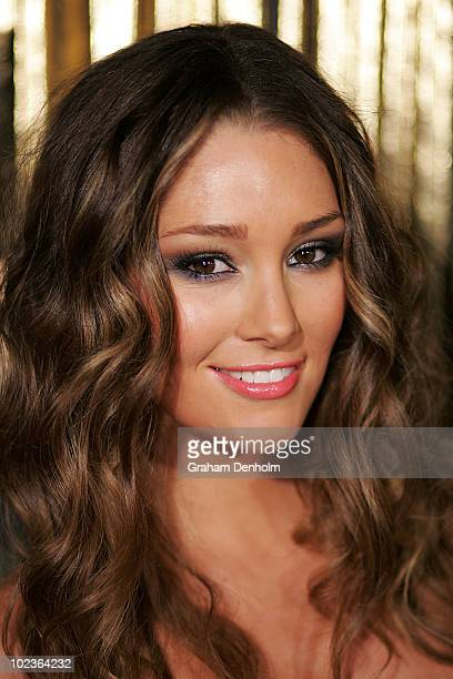 Model and presenter Erin McNaught arrives at the 8th annual ASTRA Awards at the State Theatre on June 24 2010 in Sydney Australia The awards named...
