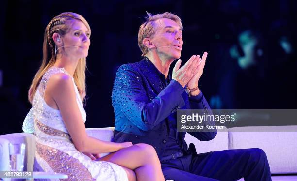 Model and presenter Heidi Klum attends together with her jury member Wolfgang Joop the final of «Germany«s Next Top Model«TV show at Lanxess Arena on...