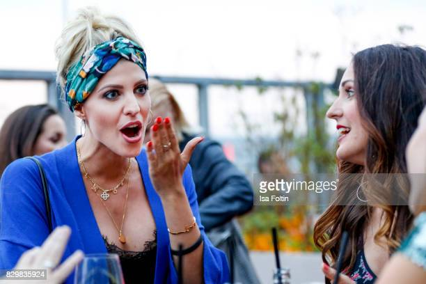 Model and StyleInfluencer Sarah Nowak and German presenter Johanna Klum during the Urban Decay Naked Heat Launch at House of weekend on August 10...