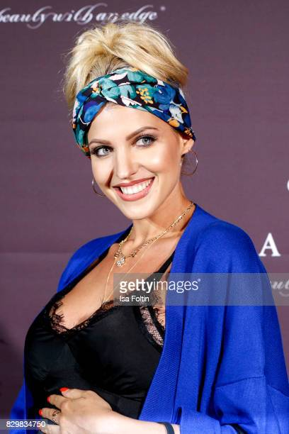 Model and StyleInfluencer Sarah Nowak during the Urban Decay Naked Heat Launch at House of weekend on August 10 2017 in Berlin Germany