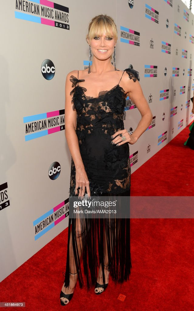 Model and Television host Heidi Klum attends the 2013 American Music Awards at Nokia Theatre L.A. Live on November 24, 2013 in Los Angeles, California.