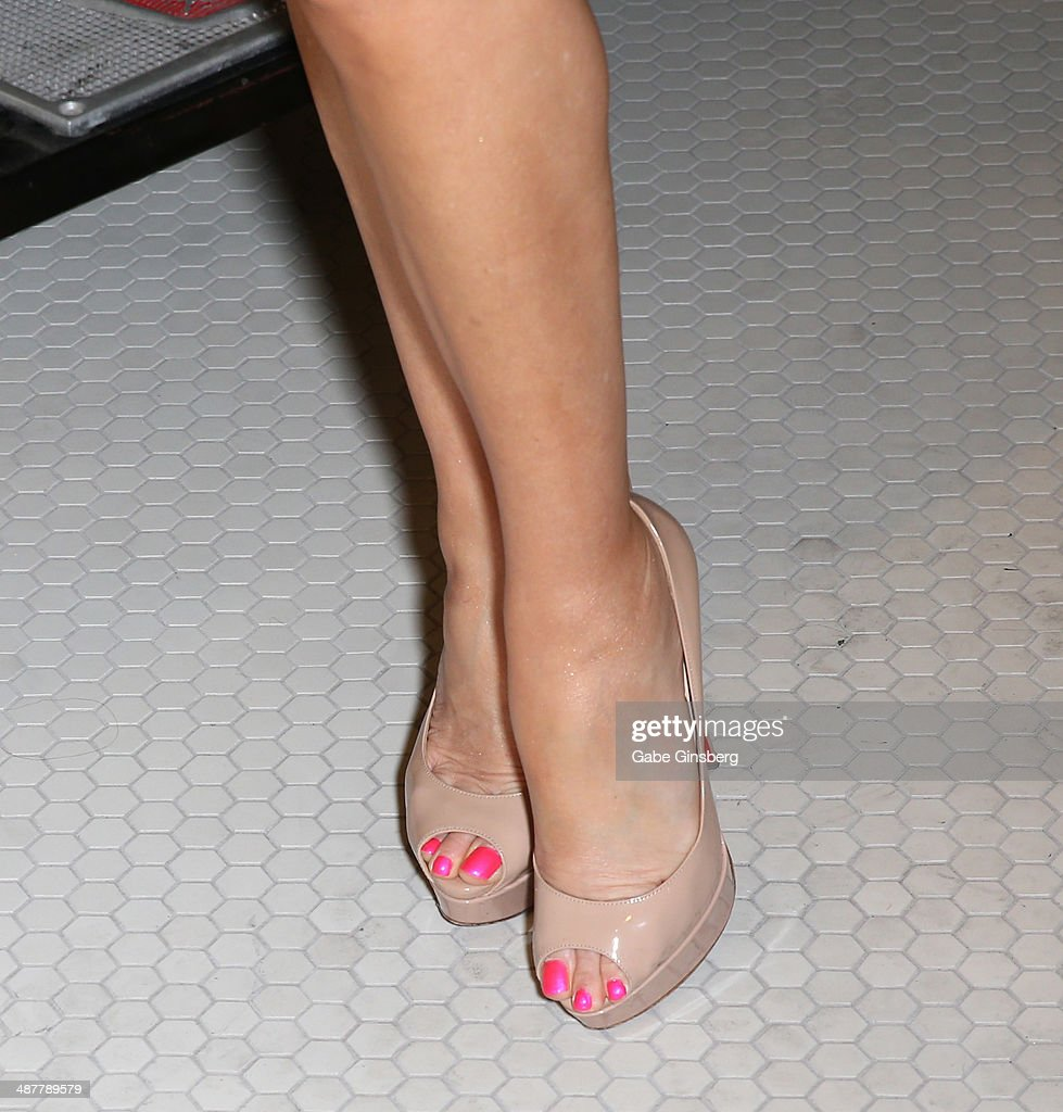 Model and television personality <a gi-track='captionPersonalityLinkClicked' href=/galleries/search?phrase=Bridget+Marquardt&family=editorial&specificpeople=539138 ng-click='$event.stopPropagation()'>Bridget Marquardt</a> (nails, shoes detail) attends the grand opening of 1923 Bourbon & Burlesque by Holly Madison at the Mandalay Bay Resort and Casino on May 1, 2014 in Las Vegas, Nevada.