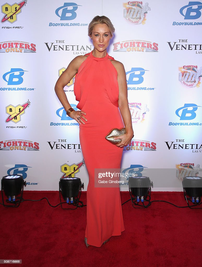 Model and television personality Caroline Pearce attends the eighth annual Fighters Only World Mixed Martial Arts Awards at The Palazzo Las Vegas on February 5, 2016 in Las Vegas, Nevada.