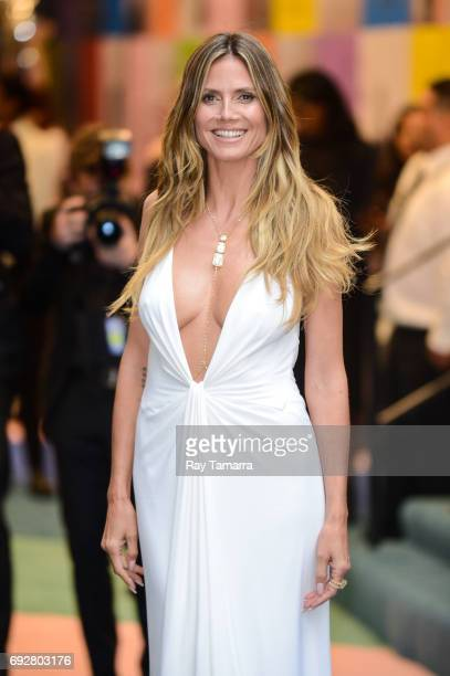 Model and television personality Heidi Klum enters the CFDA Fashion Awards at Hammerstein Ballroom on June 5 2017 in New York City