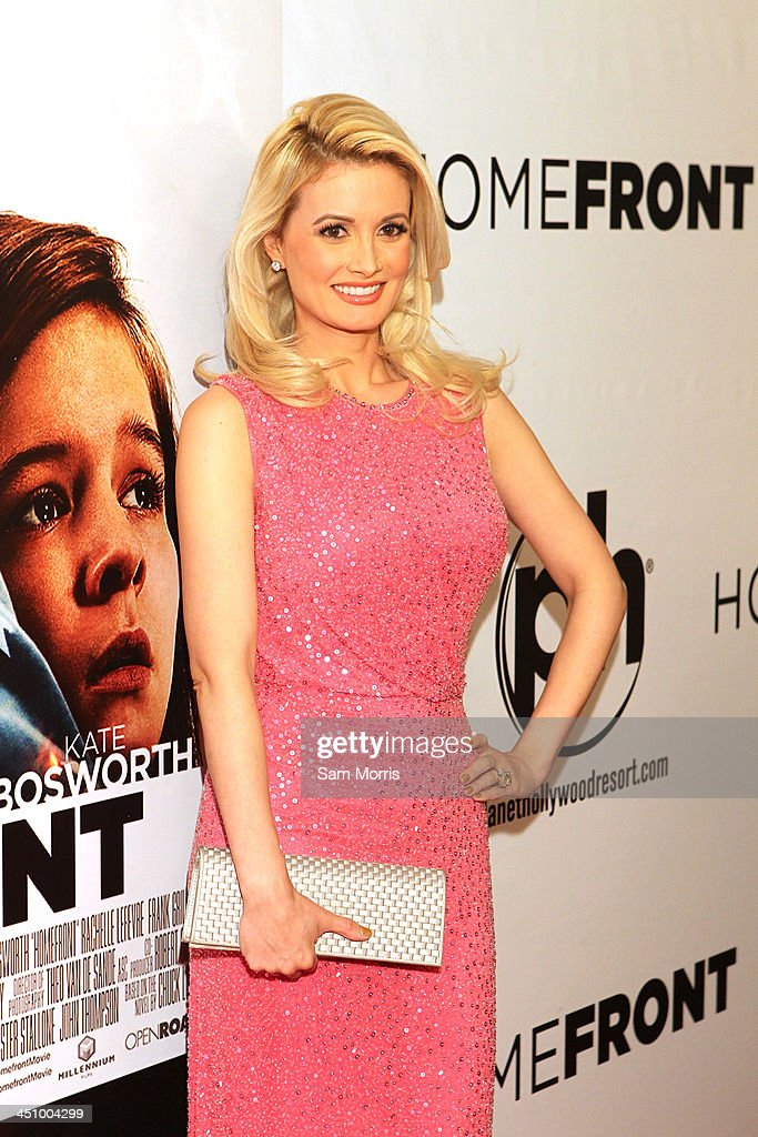 Model and television personality <a gi-track='captionPersonalityLinkClicked' href=/galleries/search?phrase=Holly+Madison&family=editorial&specificpeople=227275 ng-click='$event.stopPropagation()'>Holly Madison</a> arrives at the Las Vegas premiere of Open Road Films''Homefront' at Planet Hollywood Resort & Casino on November 20, 2013 in Las Vegas, Nevada. The movie opens nationwide in the United States on November 27.