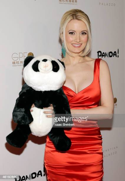 Model and television personality Holly Madison arrives at the world premiere of 'PANDA' on January 11 2014 in Las Vegas Nevada