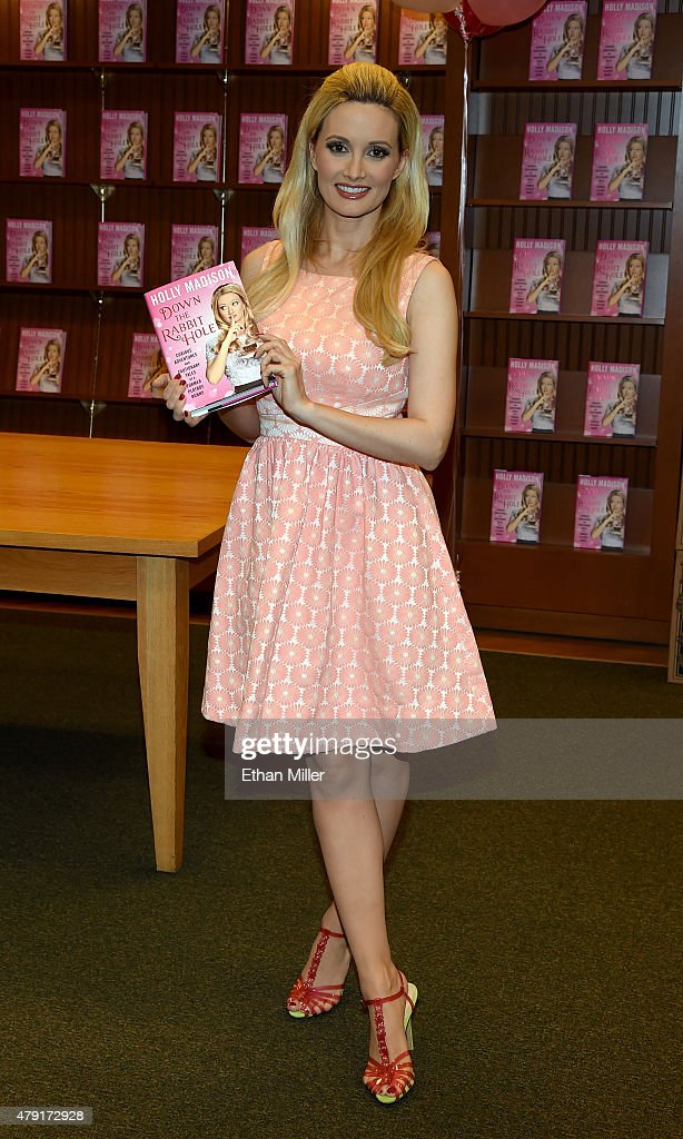"""Holly Madison Book Signing For """"Down The Rabbit Hole: Curious Adventures And Cautionary Tales Of A Former Playboy Bunny"""""""