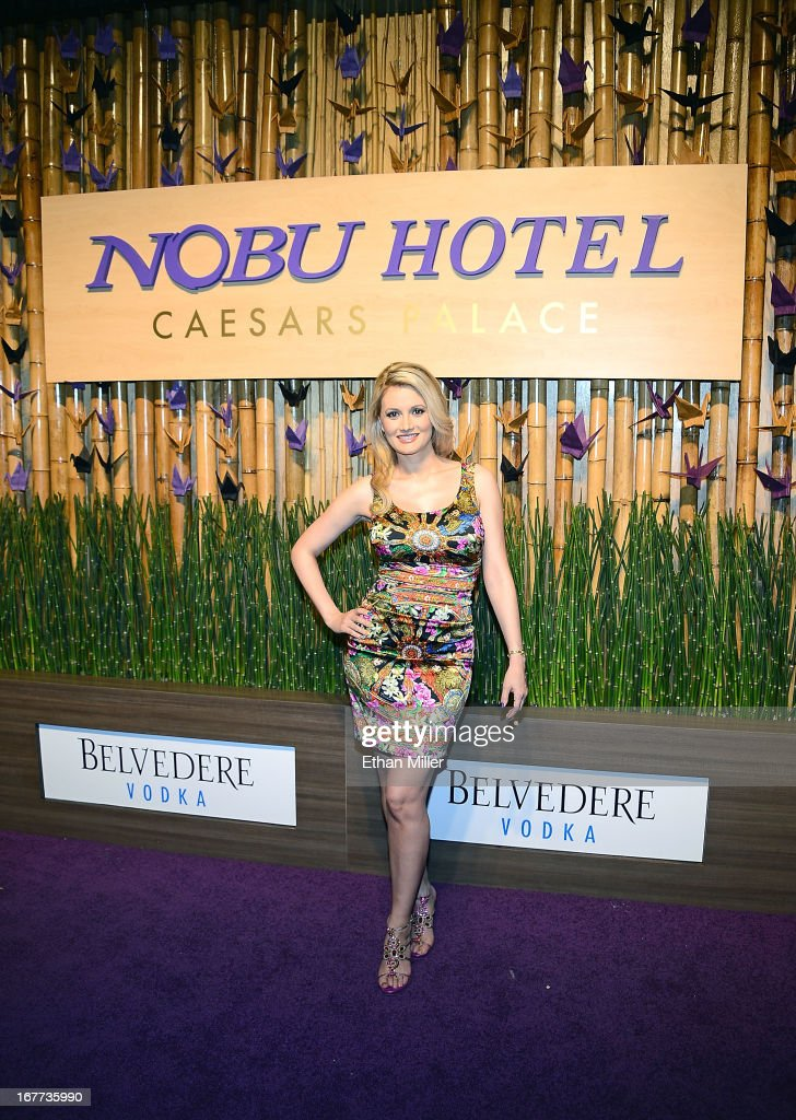 Model and television personality Holly Madison attends the grand opening celebration of the world's first Nobu Hotel Restaurant and Lounge Caesars Palace on April 28, 2013 in Las Vegas, Nevada.