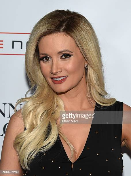 Model and television personality Holly Madison attends the launch of Jennifer Lopez's residency 'JENNIFER LOPEZ ALL I HAVE' at Planet Hollywood...