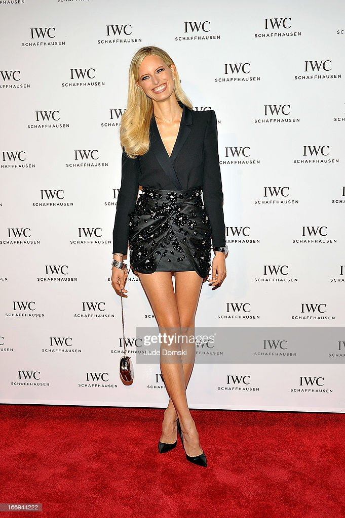 Model and television personality <a gi-track='captionPersonalityLinkClicked' href=/galleries/search?phrase=Karolina+Kurkova&family=editorial&specificpeople=202513 ng-click='$event.stopPropagation()'>Karolina Kurkova</a> attends the IWC And Tribeca Film Festival Celebrate 'For The Love Of Cinema' at Urban Zen on April 18, 2013 in New York City.