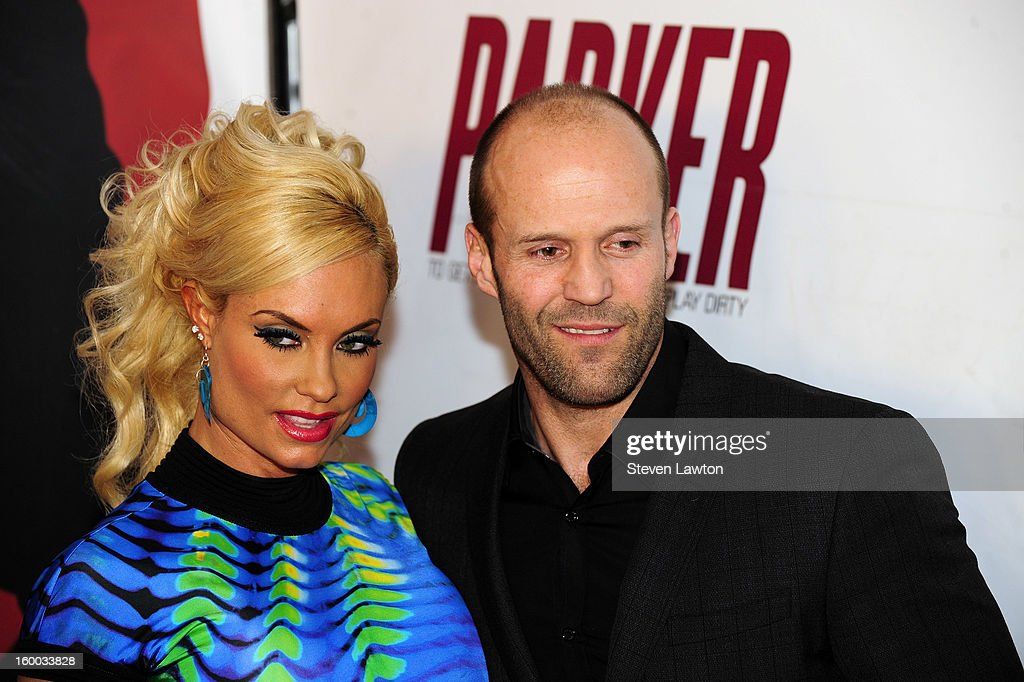 Model and television personality Nicole 'Coco' Austin and actor <a gi-track='captionPersonalityLinkClicked' href=/galleries/search?phrase=Jason+Statham&family=editorial&specificpeople=217567 ng-click='$event.stopPropagation()'>Jason Statham</a> arrive for the premiere of FlimDistrict's 'Parker' at the Planet Hollywood Resort & Casino on January 24, 2013 in Las Vegas, Nevada.