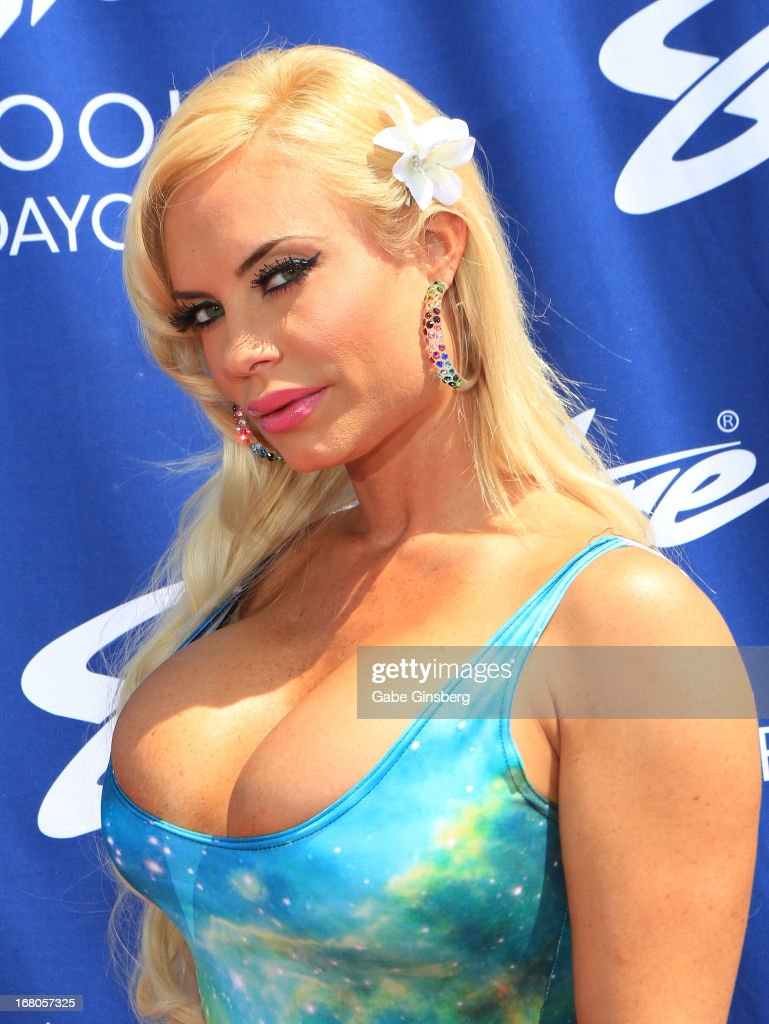 Model and television personality Nicole 'Coco' Austin arrives at the Sapphire Pool & Day Club grand opening party on May 4, 2013 in Las Vegas, Nevada.