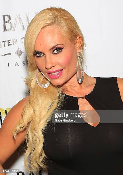 Model and television personality Nicole 'Coco' Austin arrives at the 'Zowie Bowie Late Night' show at Bally's Las Vegas on July 25 2013 in Las Vegas...