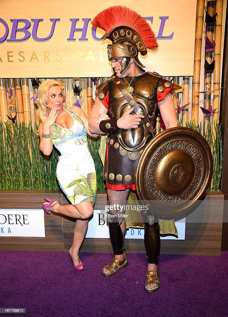 Model and television personality Nicole 'Coco' Austin (L) attends the grand opening celebration of the world's first Nobu Hotel Restaurant and Lounge Caesars Palace on April 28, 2013 in Las Vegas, Nevada.