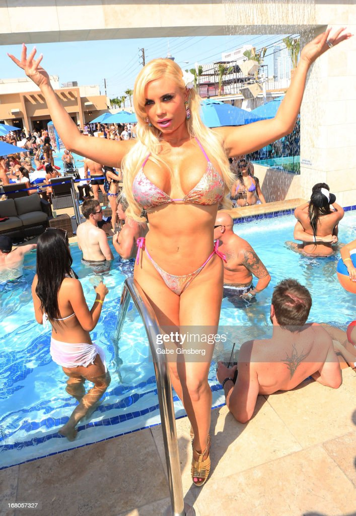 Model and television personality Nicole 'Coco' Austin poses at the Sapphire Pool & Day Club grand opening party on May 4, 2013 in Las Vegas, Nevada.