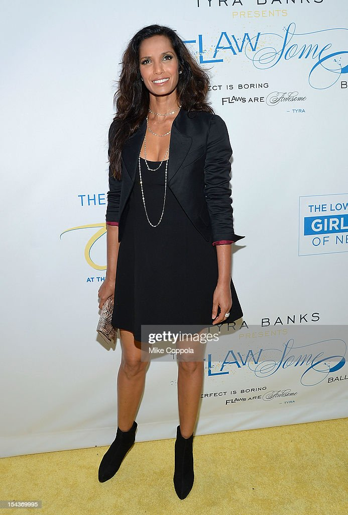 Model and television personality <a gi-track='captionPersonalityLinkClicked' href=/galleries/search?phrase=Padma+Lakshmi&family=editorial&specificpeople=201593 ng-click='$event.stopPropagation()'>Padma Lakshmi</a> attends The Flawsome Ball For The Tyra Banks TZONE at Capitale on October 18, 2012 in New York City.