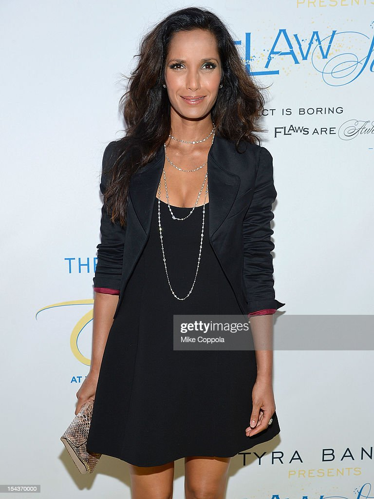 Model and television personality Padma Lakshmi attends The Flawsome Ball For The Tyra Banks TZONE at Capitale on October 18, 2012 in New York City.