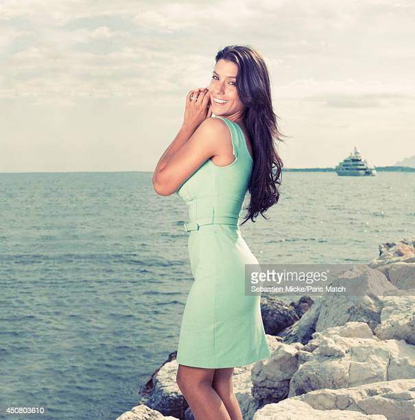 Model and the wife of the football player Bacary Sagna Ludivine Sagna is photographed for Paris Match on June 01 2014 in Cap Antibes France
