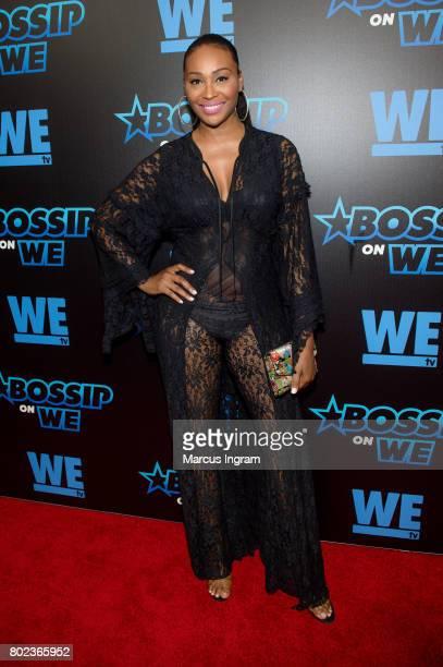Model and TV peersonality Cynthia Bailey attends 'Bossip On WE' Atlanta launch celebration at Elevate at W Atlanta Midtown on June 27 2017 in Atlanta...