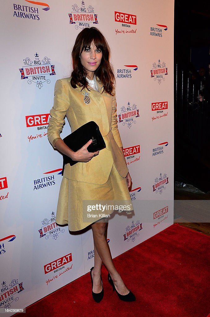 Model and TV personality Alexa Chung attends The Big British Invite launch at 78 Mercer Street on March 21, 2013 in New York City.