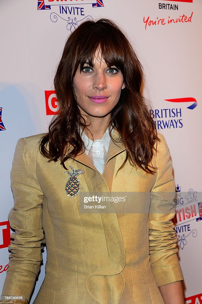 Model and TV personality <a gi-track='captionPersonalityLinkClicked' href=/galleries/search?phrase=Alexa+Chung&family=editorial&specificpeople=3141821 ng-click='$event.stopPropagation()'>Alexa Chung</a> attends The Big British Invite launch at 78 Mercer Street on March 21, 2013 in New York City.
