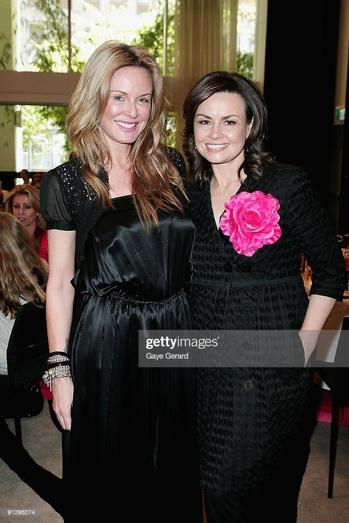 Model and TV Personality Charlotte Dawson and TV Host Lisa Wilkinson pose during the McGrath Foundation High Tea at the Ivy on October 1 2009 in...