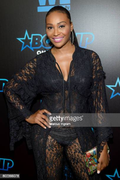 Model and TV personality Cynthia Bailey attends 'Bossip On WE' Atlanta launch celebration at Elevate at W Atlanta Midtown on June 27 2017 in Atlanta...