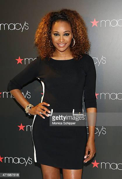 Model and TV personality Cynthia Bailey visits Macy's Downtown Brooklyn at Macy's Downtown Brooklyn on May 2 2015 in New York City