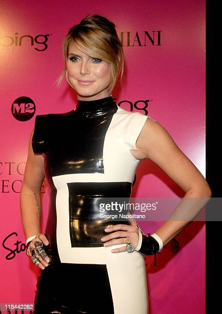 Model and TV personality Heidi Klum attends the Victoria's Secret fashion show after party at M2 Ultra Lounge on November 19 2009 in New York City
