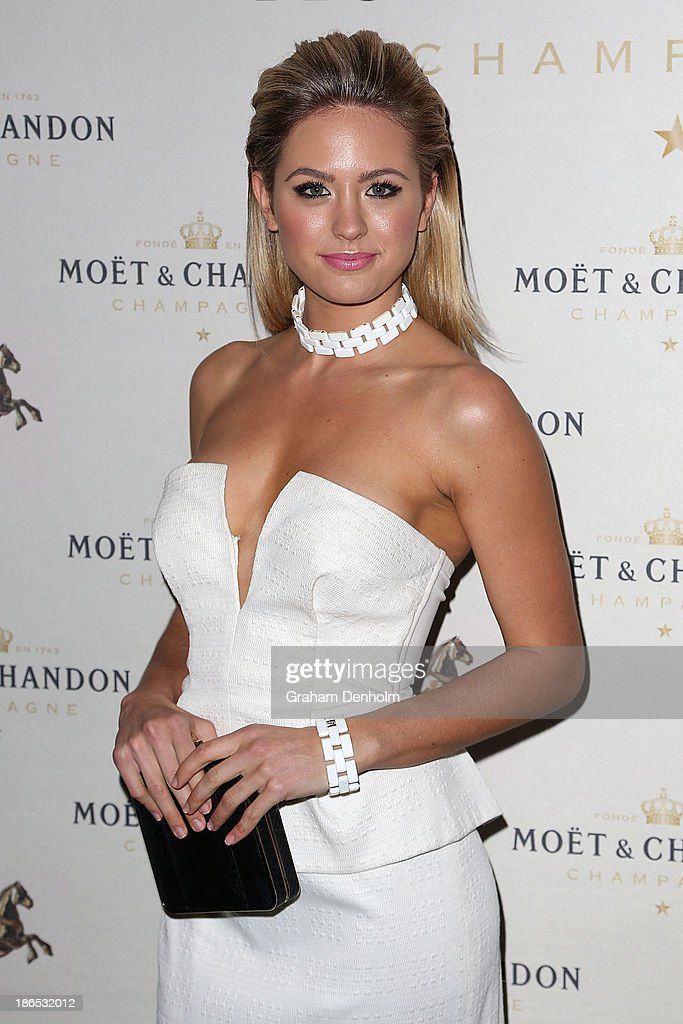Model and TV personality Jesinta Campbell poses at the Moet & Chandon Derby Eve party held at The Waiting Room, Crown Towers on November 1, 2013 in Melbourne, Australia.