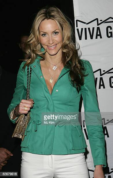 Model and TV presenter Lisa Butcher attends the MAC VIVA GLAM V party launching MAC Cosmetics latest charity lipstick at Home House April 21 2005 in...