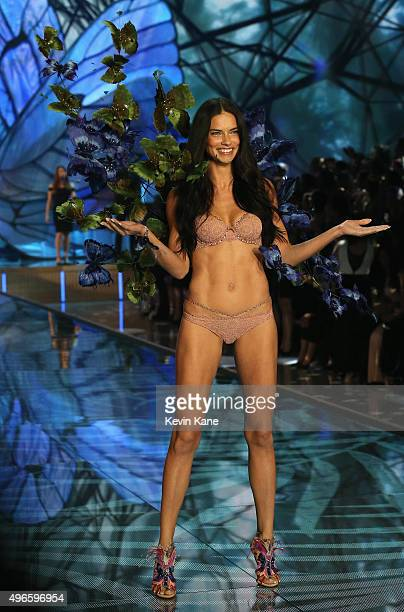 Model and Victoria's Secret Angel Adriana Lima from Brazil walks the runway during the 2015 Victoria's Secret Fashion Show at Lexington Armory on...