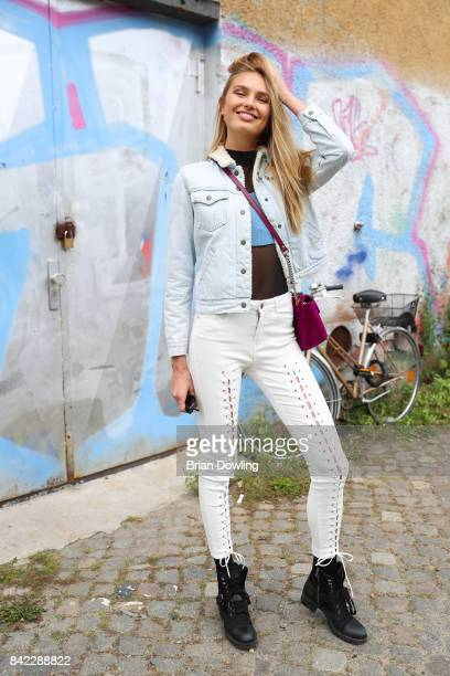Model and Victoria's Secret Angel Romee Strijd poses during the Bread Butter by Zalando at arena Berlin on September 3 2017 in Berlin Germany