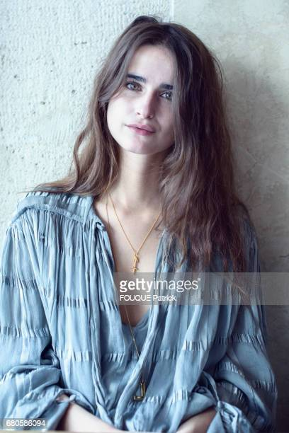 Model and writer Loulou Robert photographed in a cafe in Paris on March 14 2017