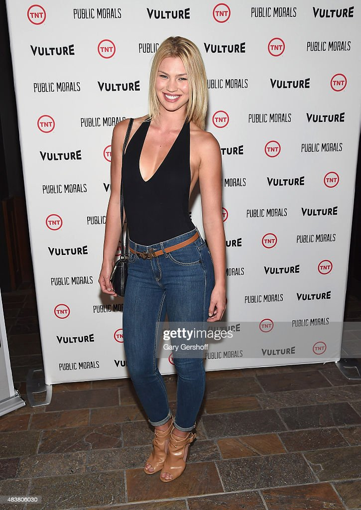 Model Andrea Cronberg attends the 'Public Morals' New York Screening at Tribeca Grand Screening Room on August 12, 2015 in New York City.