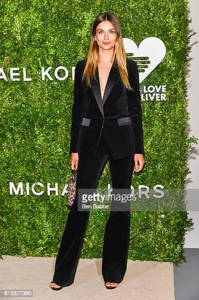 Model Andreea Diaconu attends the 2016 God's Love We Deliver Golden Heart Awards Dinner at Spring Studios on October 17 2016 in New York City